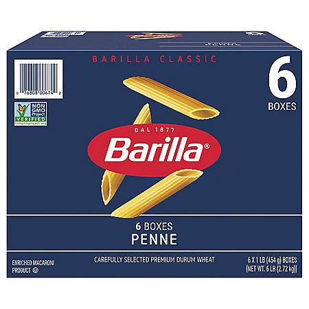 Barilla Classic Blue Box Pasta Penne (16 oz., 6 pk.)