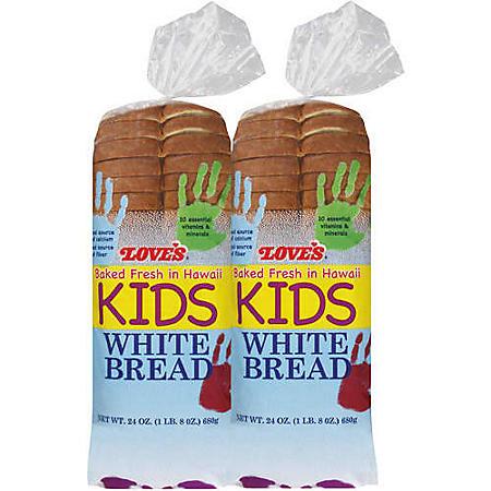 Love's Kids White Bread (24oz / 2pk)