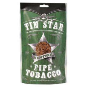 Tin Star Methol Pipe Tobacco (8 oz. bag)