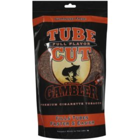 Gambler Tube Cut Full Flavor Tobacco (3 oz. bag)