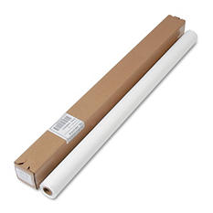 "Tablemate Table Set Plastic Banquet Roll, Table Cover, 40"" x 100ft -  White"
