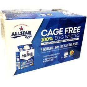 AllStar Cage Free 100% Liquid Egg Whites (16 oz., 6 pk.)