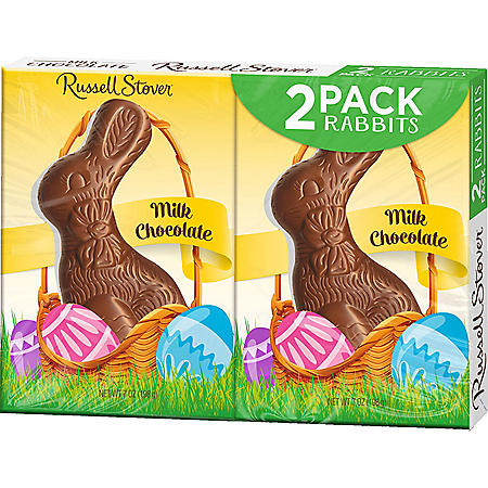 Russell Stover Milk Chocolate Bunnies (7oz., 2pk.)