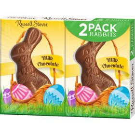Russell Stover Milk Chocolate Bunnies (3oz., 2pk.)