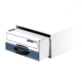 Bankers Box STOR/DRAWER Steel Plus Storage Box with Wire, White/Blue (12ct.)