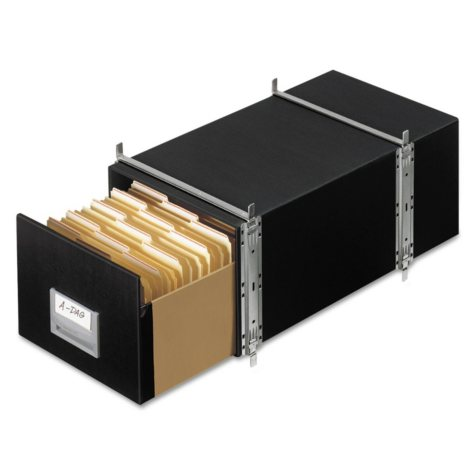 Bankers Box - STAXONSTEEL Storage Box Drawer, Letter, Steel Frame, Black -  6/Carton
