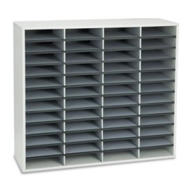 Fellowes - Literature Organizers, 48 Sections, 38 1/4 x 11 7/8 x 34 11/16 -  Dove Gray