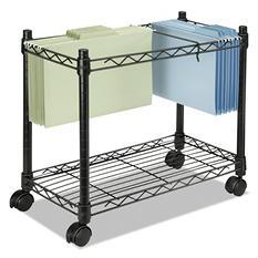 Fellowes - High-Capacity Rolling File Cart, 24w x 14d x 20-1/2h -  Black