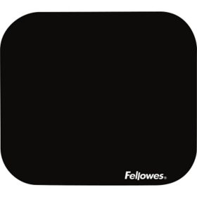 Fellowes - Polyester Mouse Pad, Nonskid Rubber Base, 9 x 8 -  Black
