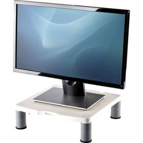 Fellowes - Standard Monitor Riser, 13 1/8 x 13 1/2 x 2 -  Platinum/Graphite