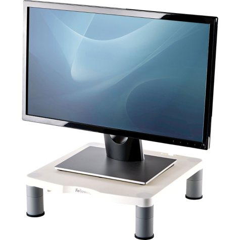 Fellowes - Standard Monitor Riser, 13 1/8 x 13 1/2 x 2 -  Platinum/Graphite