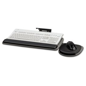 Fellowes - Adjustable Standard Keyboard Platform, 20-1/4w x 11-1/8d -  Black/Gray