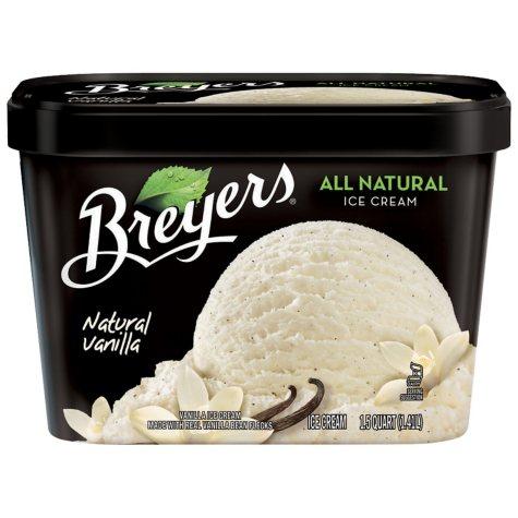 Breyers® All Natural Ice Cream - 1.75 quarts