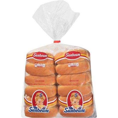 Sunbeam Hot Dog Buns - 2/12 pk.