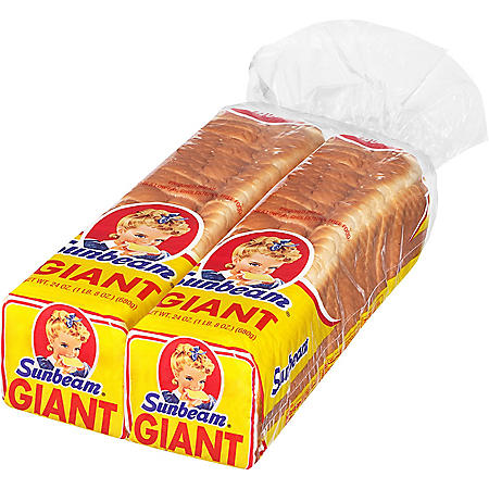 Sunbeam Giant White Bread (24 oz., 2 ct.)