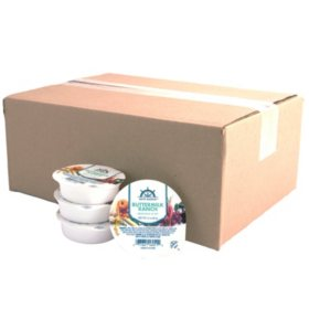 Brite Harbor Buttermilk Ranch Dressing & Dip Single Servings, Bulk Wholesale Case (48 ct.)