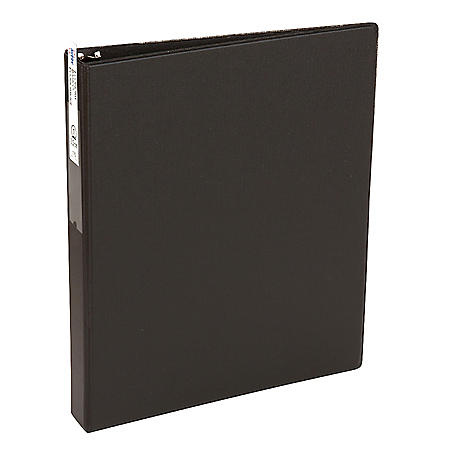 """Avery Economy Non-View Binder with Round Rings, 3 Rings, 1"""" Capacity, 11 x 8.5, Black"""