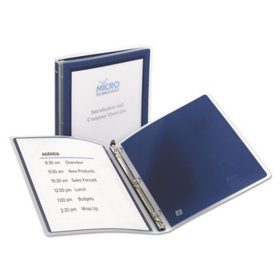 "Avery Flexi-View Binder with Round Rings, 3 Rings, 0.5"" Capacity, 11 x 8.5, Navy Blue"