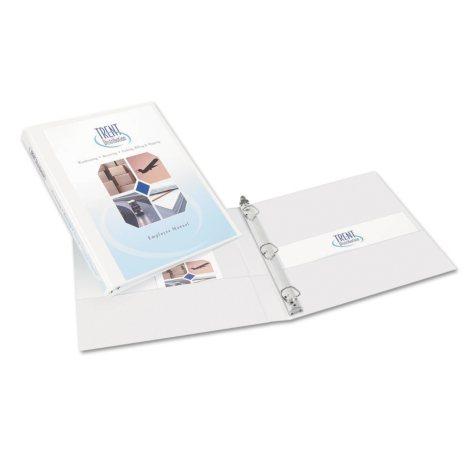 """Avery® Durable View Binder, Slant Rings, Letter, 1/2"""" Capacity, White, 6pk."""
