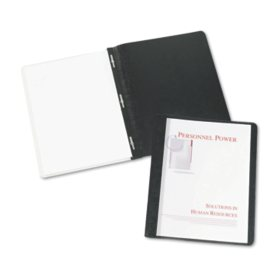 """Avery Durable Clear Front Report Cover w/Prong Fasteners, 1/8"""" Cap, Clear/Black, 25/BX"""