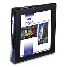 "Avery Framed View Heavy-Duty Binder w/Locking 1-Touch EZD Rings, 1"" Cap, Black"