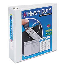 "Avery Heavy Duty View Binder with One Touch EZD Rings, 3"" Capacity, White, 2 ct."