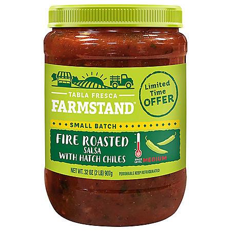 Tabla Fresca Farmstand Fire Roasted Salsa with Hatch Chilis (32 oz.)