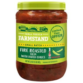 Tabla Fresca Farmstand Fire Roasted Salsa with Hatch Chilis (32 oz.)