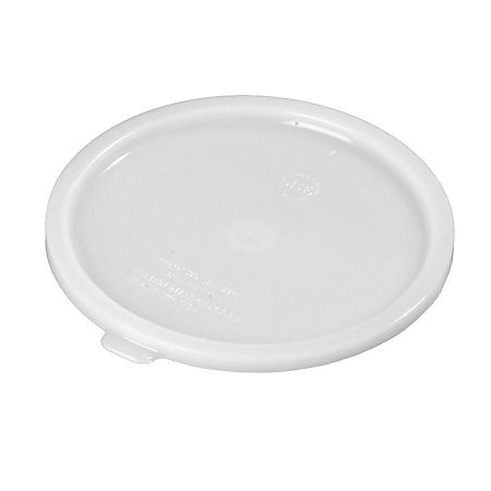Carlisle Round Plastic Storage Container Lid, White (Choose Your Size)