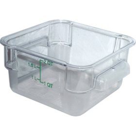 Carlisle Square Plastic Food Storage Container (Choose Your Size & Color)