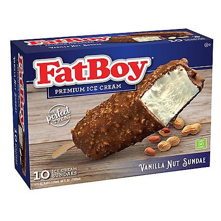 FatBoy Vanilla Nut Sundae on a Stick, Frozen (10 ct.)