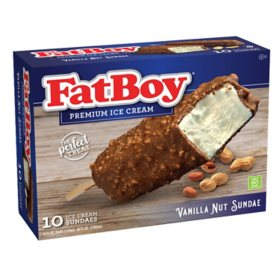 FatBoy Vanilla Nut Sundae on a Stick, Frozen (10 ct.)