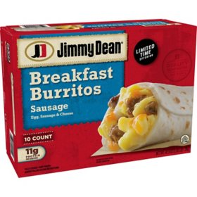 Jimmy Dean Sausage Breakfast Burritos, Frozen (10 ct.)