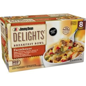 Jimmy Dean Delights Farmhouse Breakfast Bowl, Frozen (8 ct.)