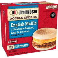 Jimmy Dean Double Sausage English Muffin Breakfast Sandwiches, Frozen (8 ct.)