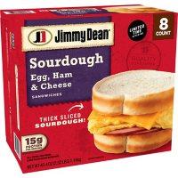 Jimmy Dean Egg, Ham and Cheese Sourdough Breakfast Sandwich (8 pk.)