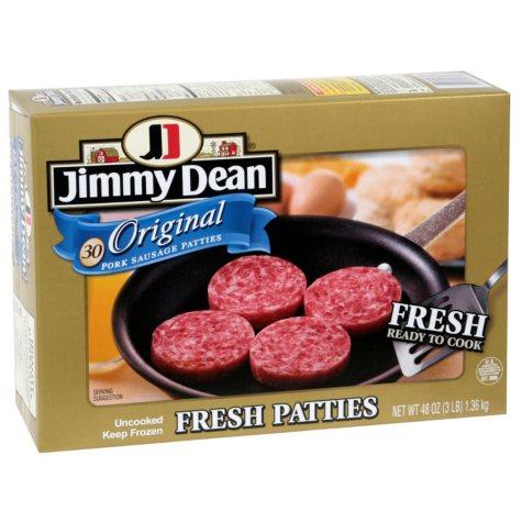 Jimmy Dean Pork Sausage Patties (30 patties, 48 oz.)