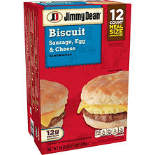 Jimmy Dean Sausage, Egg & Cheese Biscuit Sandwiches (12 ct., 54 oz.)