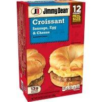 Jimmy Dean Sausage, Egg & Cheese Croissant, Frozen (12 ct.)