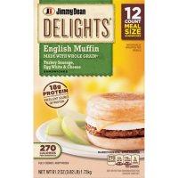 Jimmy Dean Delights Turkey Sausage, Egg White & Cheese Muffin Sandwiches, Frozen (12 ct.)