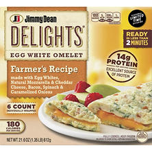 Jimmy Dean Delights Farmer's Recipe Egg White Omelet (21.6 oz., 6 ct.)