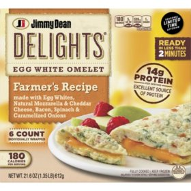 Jimmy Dean Delights Farmer's Recipe Egg White Omelet, Frozen (6 ct.)