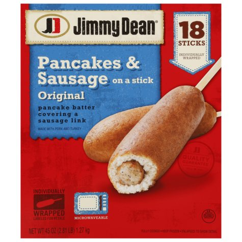 Jimmy Dean Pancakes & Sausage on a Stick - 18 ct.
