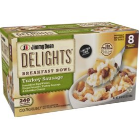 Jimmy Dean Delights Breakfast Turkey Sausage Bowl, Frozen (8 ct.)