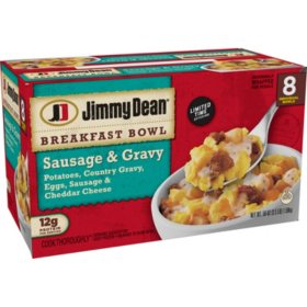 Jimmy Dean Sausage and Gravy Breakfast Bowls (56 oz., 8 pk.)