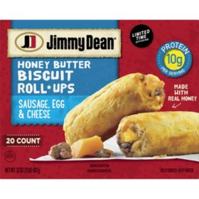 Jimmy Dean Sausage, Egg & Cheese Biscuit Roll-Up, Frozen (20 ct.)