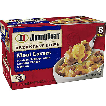 Jimmy Dean Meat Lovers Breakfast Bowls, Frozen (8 ct.)