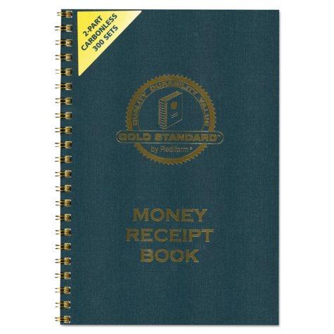 Rediform Money Receipt Book, Carbonless Duplicate, Twin Wire, 7 x 2 3/4, 300 Sets/Book