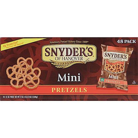 Snyder's of Hanover Mini Pretzels 1.5 oz. (48 ct.)