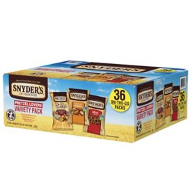 Snyder's of Hanover Pretzel Lovers Variety Pack (36 ct.)